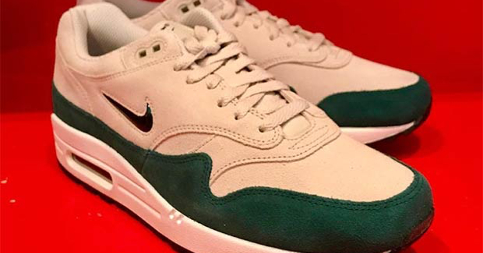 nike air max 1 green suede kopen
