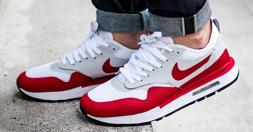 nike air max 1 heren red