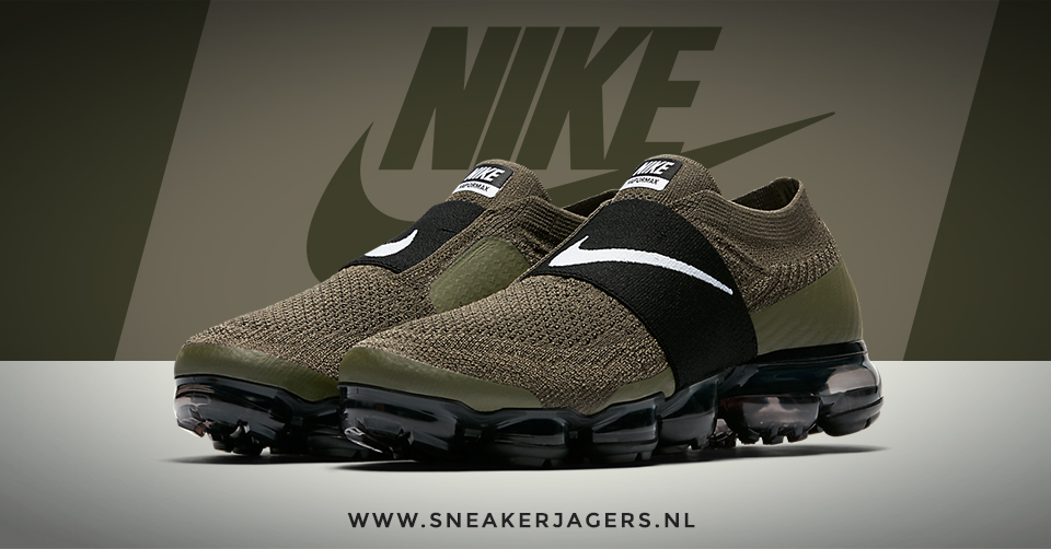 De veterloze Nike Air VaporMax Moc 'Cargo Khaki' | Sneakerjagers