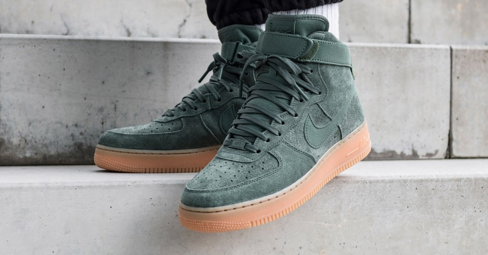 Nike Air Force 1 High 07 LV8 Suede Green
