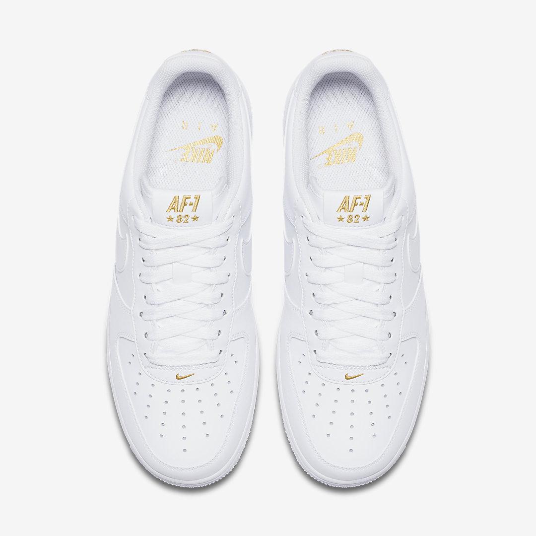 goud en zwart nike air force 1 new style f64f3 acc16