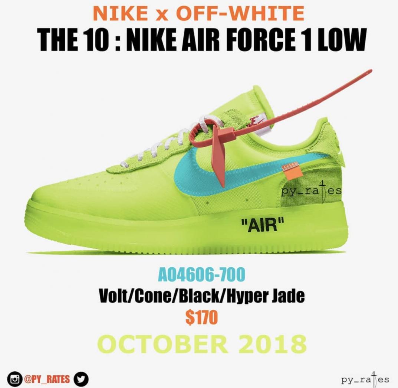 Rumored: Virgil Abloh x Nike Air Force 1 'Volt' | Sneakerjagers