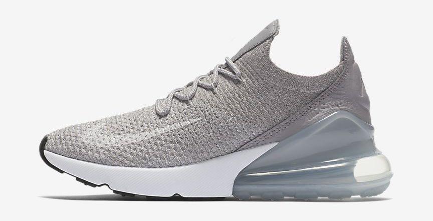 Nike AIR MAX 270 FLYKNIT Pure PlatinumBlackDark Grey | Hype DC
