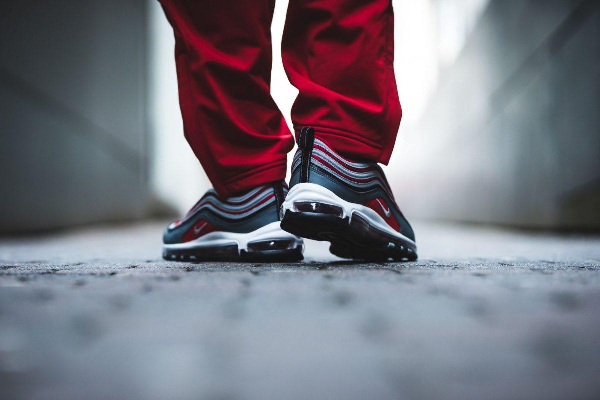 Nike Air Max 97 'Wolf Grey/Gym Red'