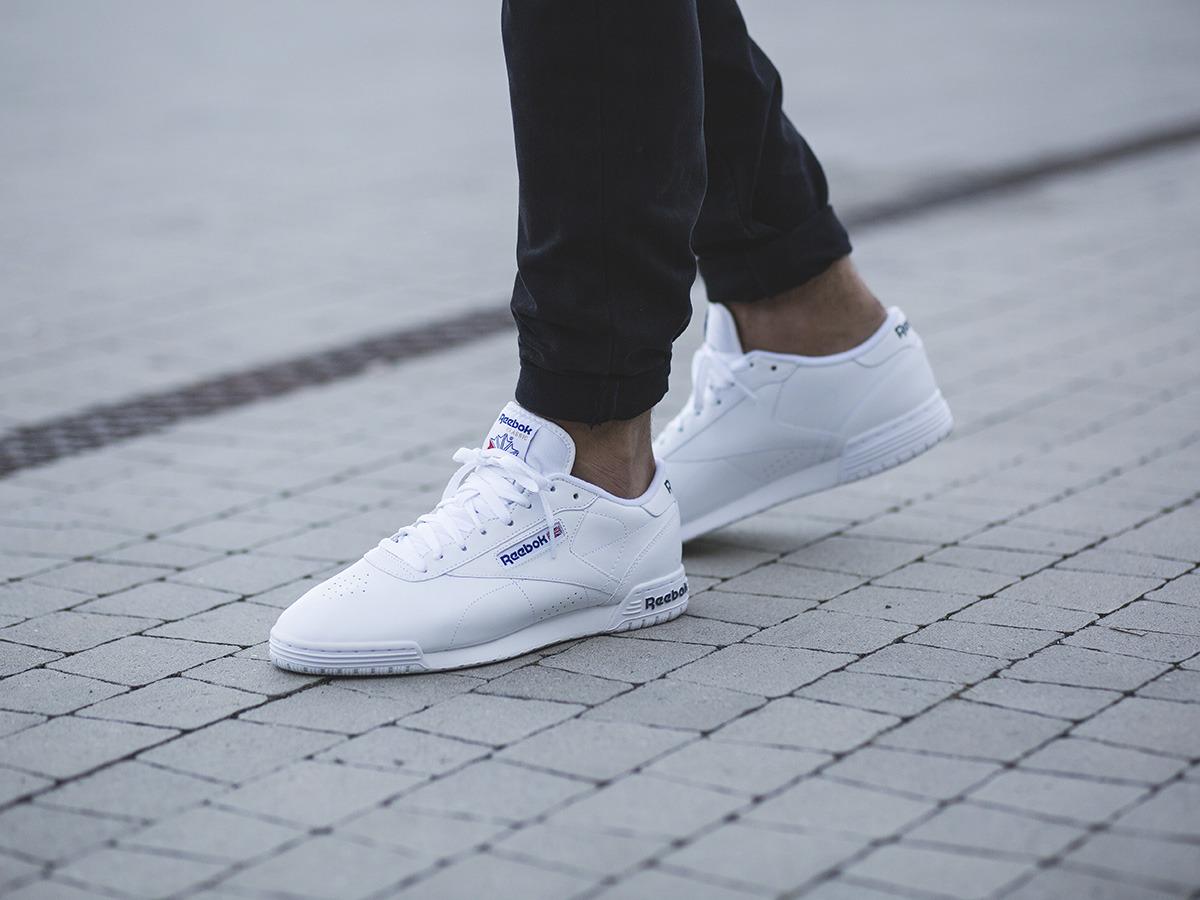 Reebok Ex O Fit Lo Clean Logo Sneakers WhiteRoyal Blue