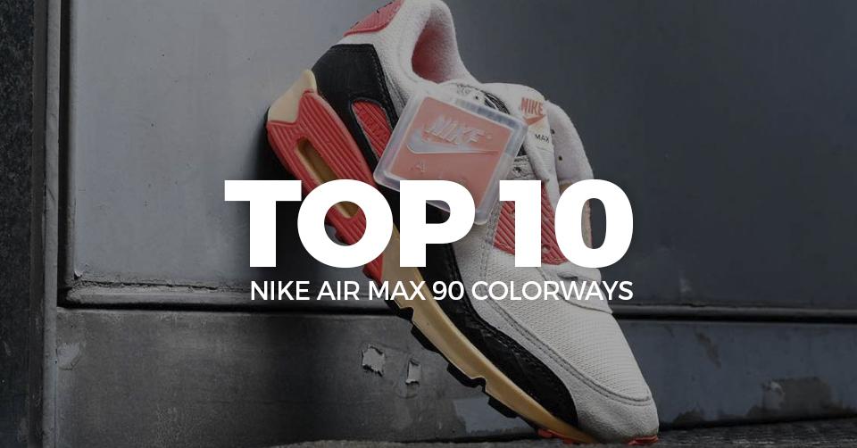 Dé ultieme Nike Air Max 90 top 10 colorways allertijden