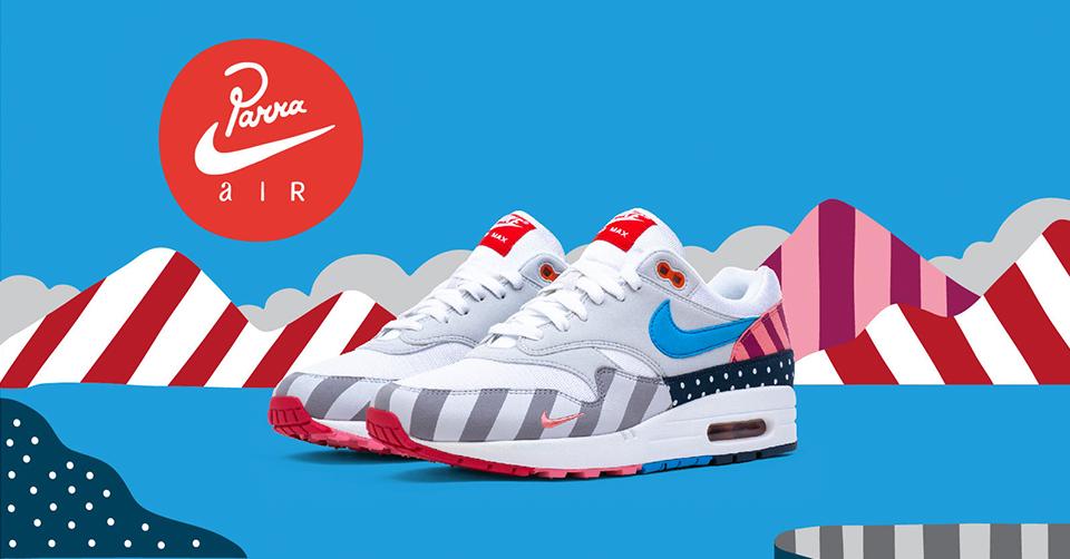 21 juli 2018: de nieuwe Nike Air Max 1 x Parra | Sneakerjagers