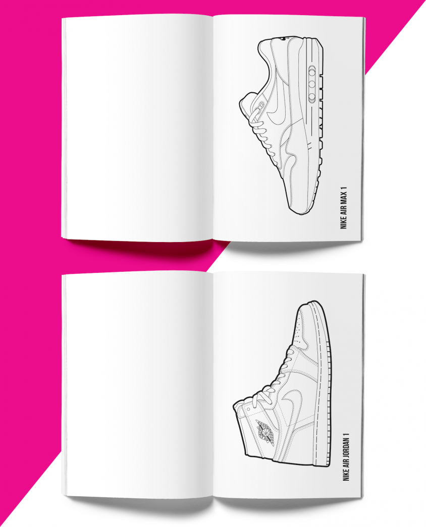 Hyprints: The first Hyprints sneaker coloring book