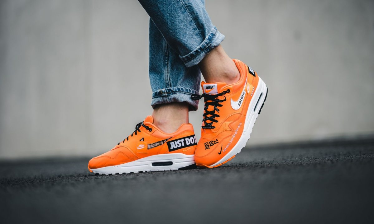 Nike Air Max 1 Just Do It WhiteOrange 917691 100
