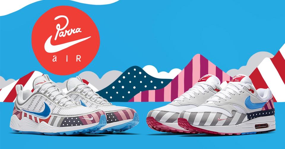Nike Air X Parra collectie release info 21 juli | Sneakerjagers