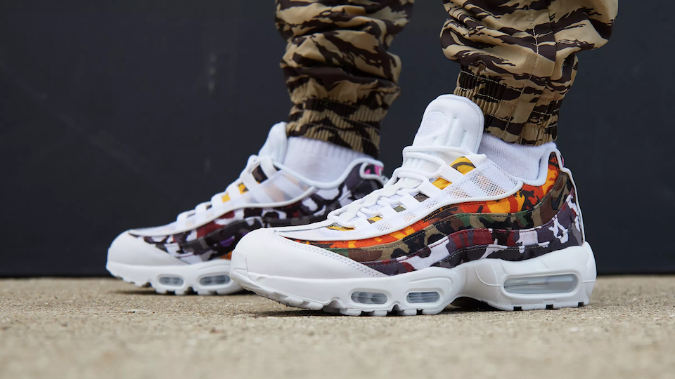 Nike Air Max 95 ERDL Camo White Party Sneakers