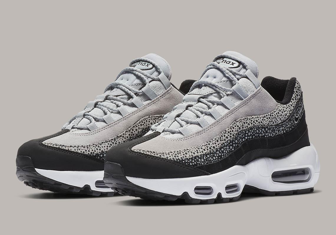 De Nike Air Max 95 komt in een grijze safari print