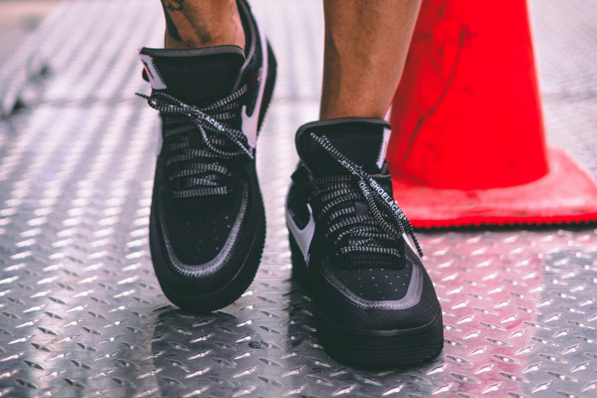 Off-White x Nike Air Force 1 Black Cone