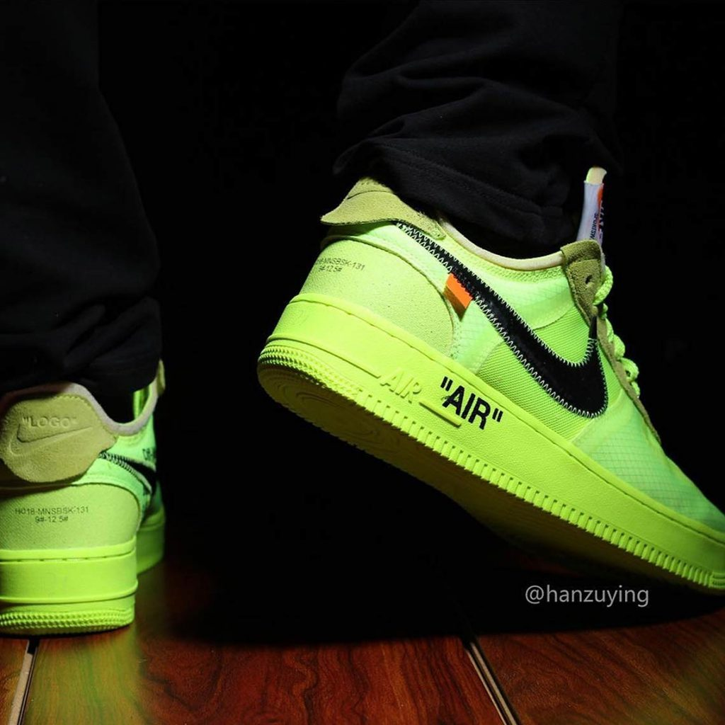 """Update: Nike x Off White Air Force 1 """"Volt"""" 
