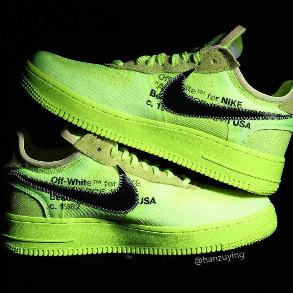 "Nike x Off-White Air Force 1 ""Volt"""