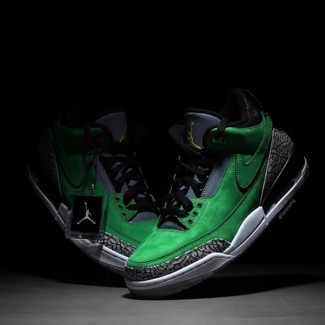 "Air Jordan 3 Tinker PE ""Oregon Duck"""