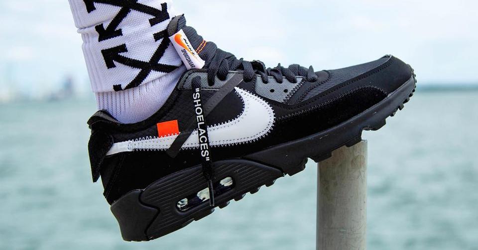 Off White Nike Air Max 90 Black + White AA7293 001