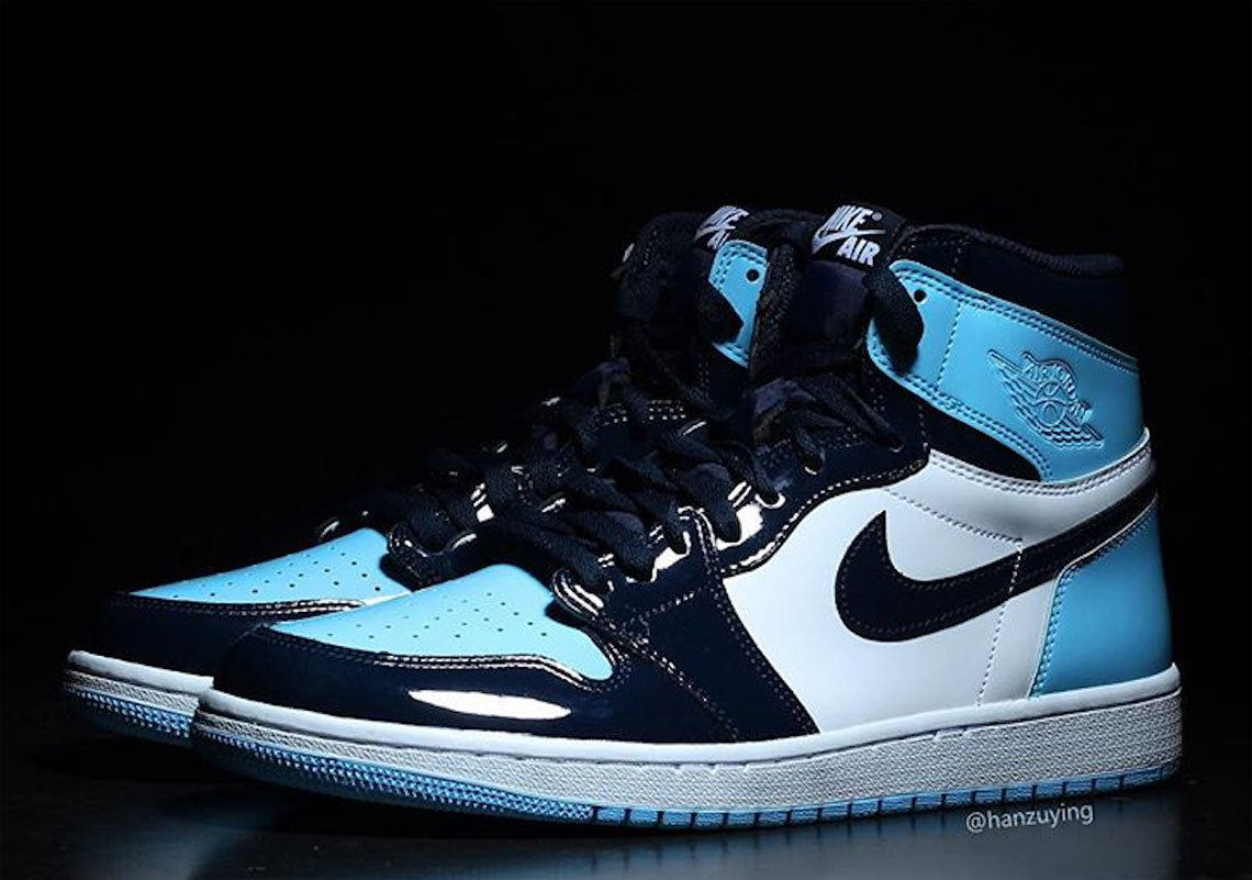 "Air Jordan 1 ""UNC Patent Leather"""