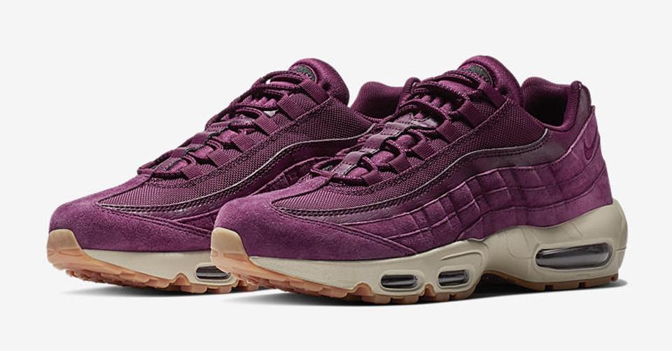 Nike Air Max 95 maroon purple Bordeaux gum bottom   Kixify