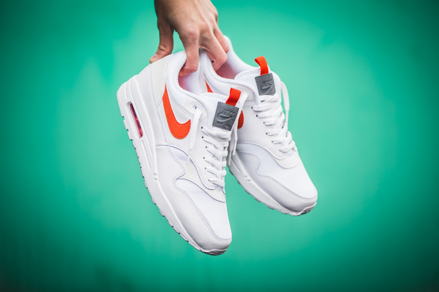Nike Air Max 1 SE WhiteTeam Orange CD1530 100