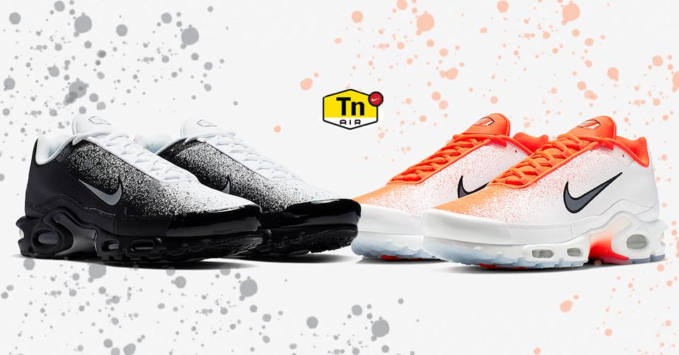 De Nike Air Max Plus in twee spray painted colorways