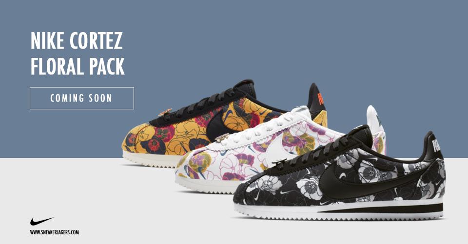 nike sneakers bloemen