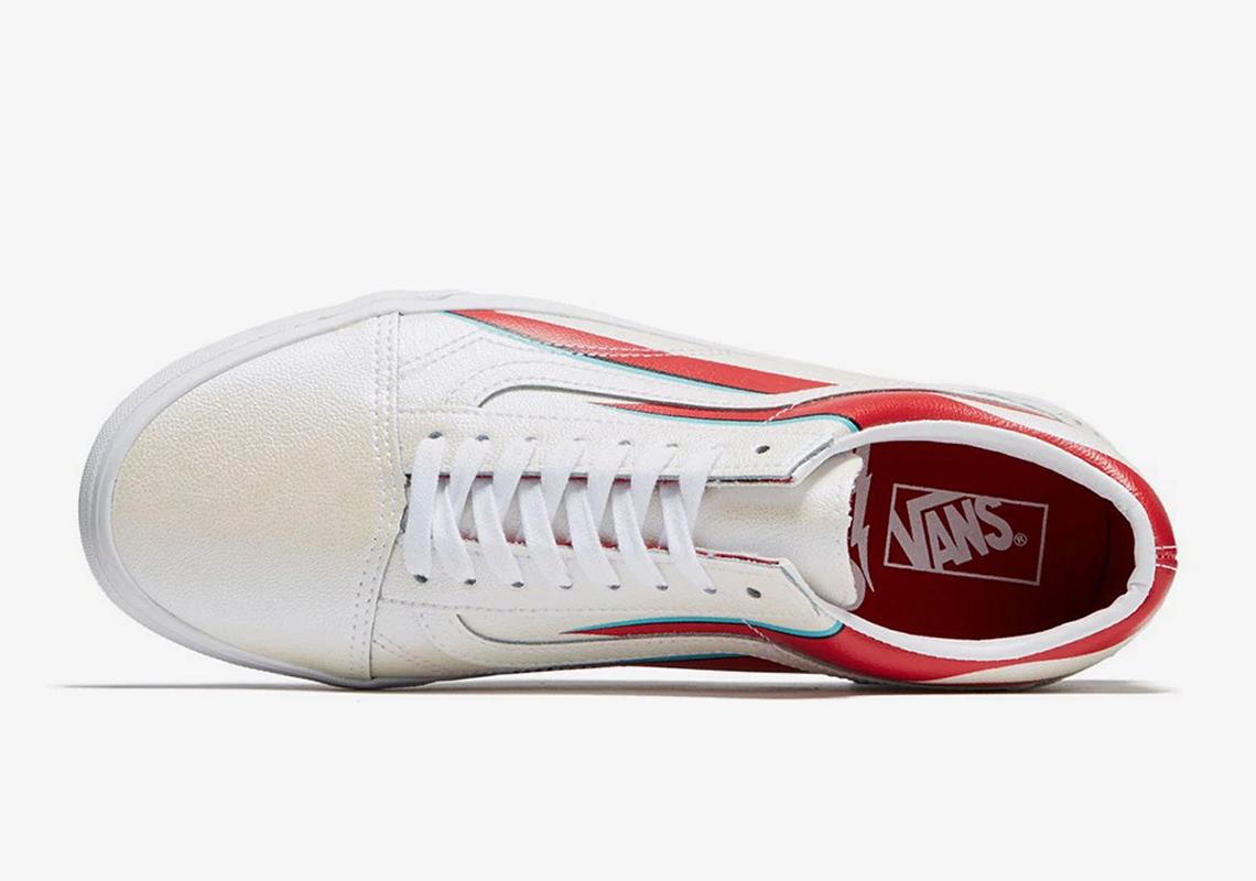 Vans X David Bowie Old Skool witte sneakers