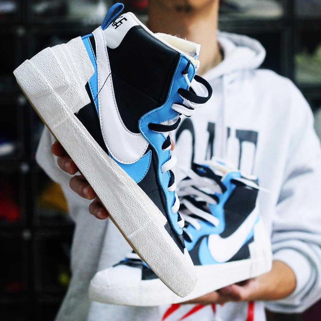 Sacai X Nike Blazers Blue