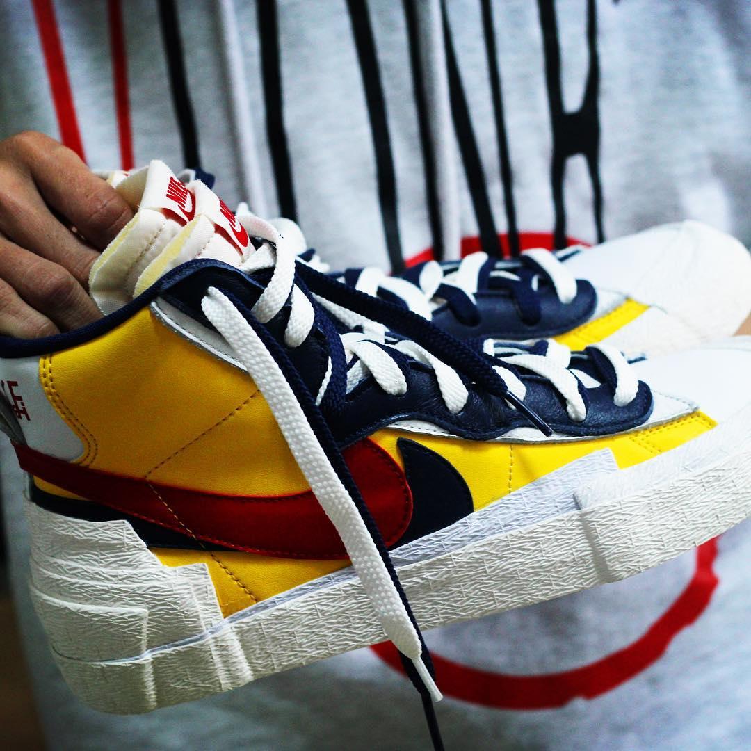 Sacai X Nike Blazers Yellow