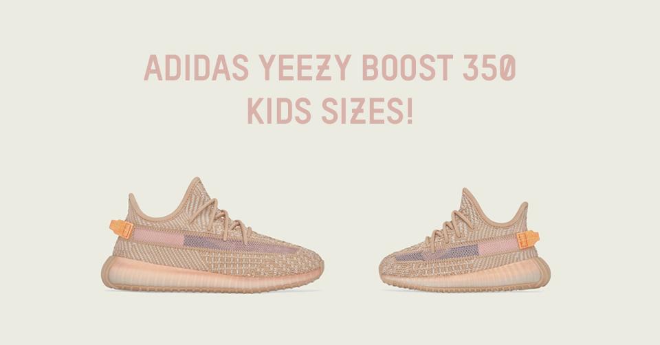 De adidas Yeezy Boost 350 'Clay' kids dropt zaterdag 18 mei