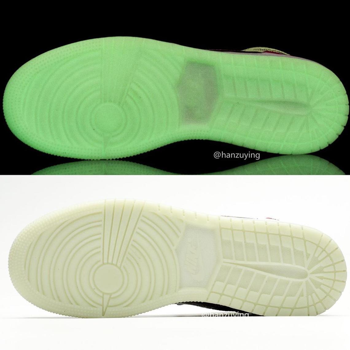 Air Jordan 1 Mid Glow In The Dark | Sneakerjagers