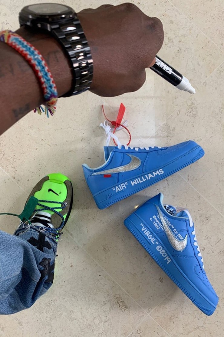 """Off-White x Nike Air Force 1 """"University Blue"""""""