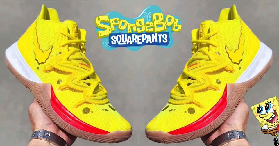 Nike Kyrie 5 'Spongebob' closer look | Sneakerjagers