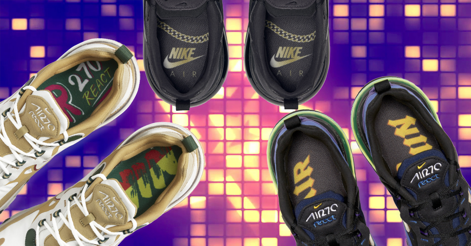 Shop Nike Air Max 270 React Reggae at the sneakers shop