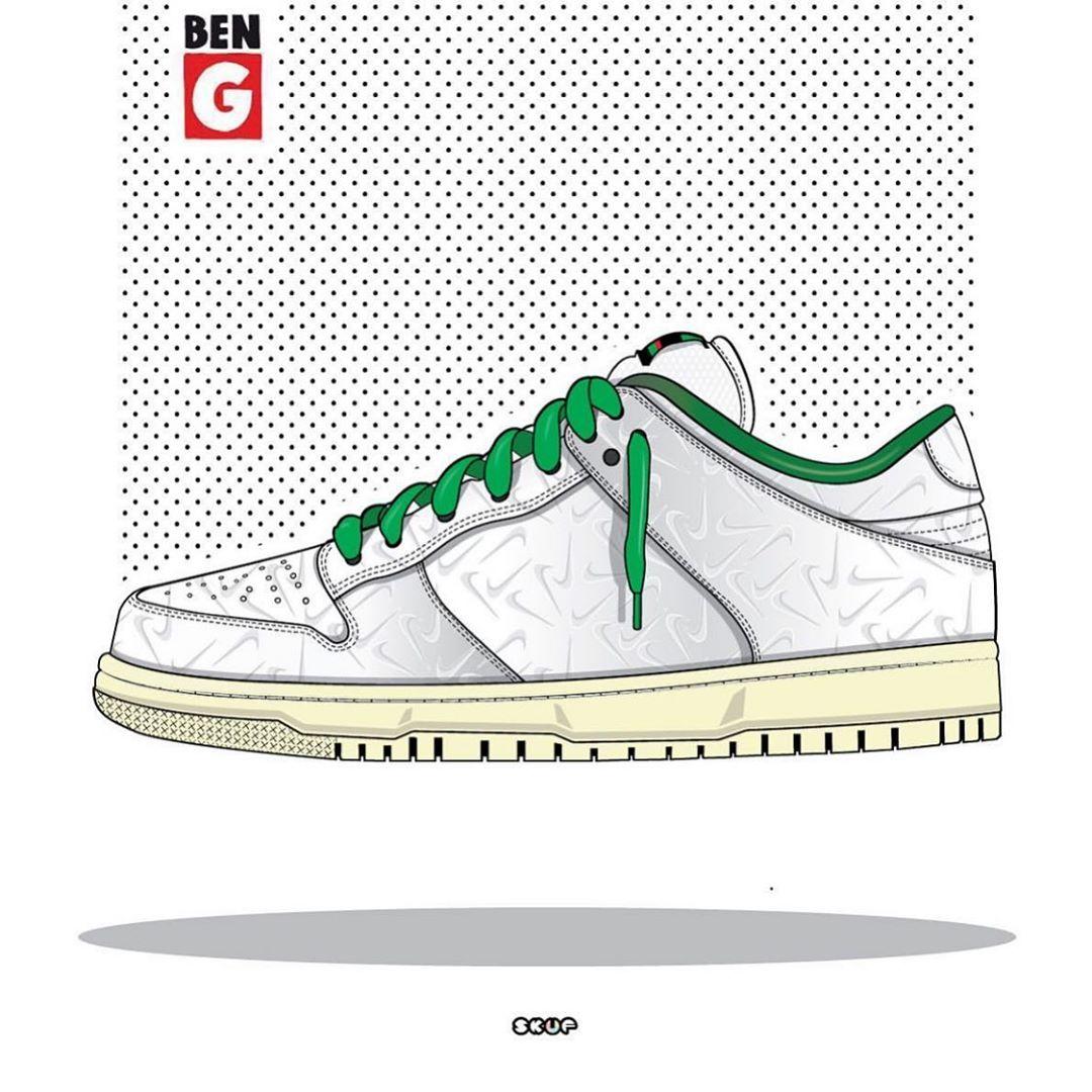 Ben G X Nike Sb Dunk Low Pro OG  mock up