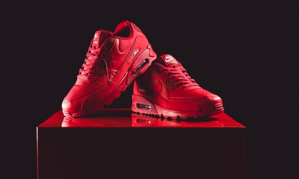 Nike Air Max 90 Essential Red Orbit AJ1285 106 43einhalb