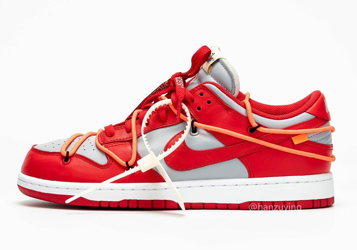 Off-White x Nike Dunk Low 'University Red'