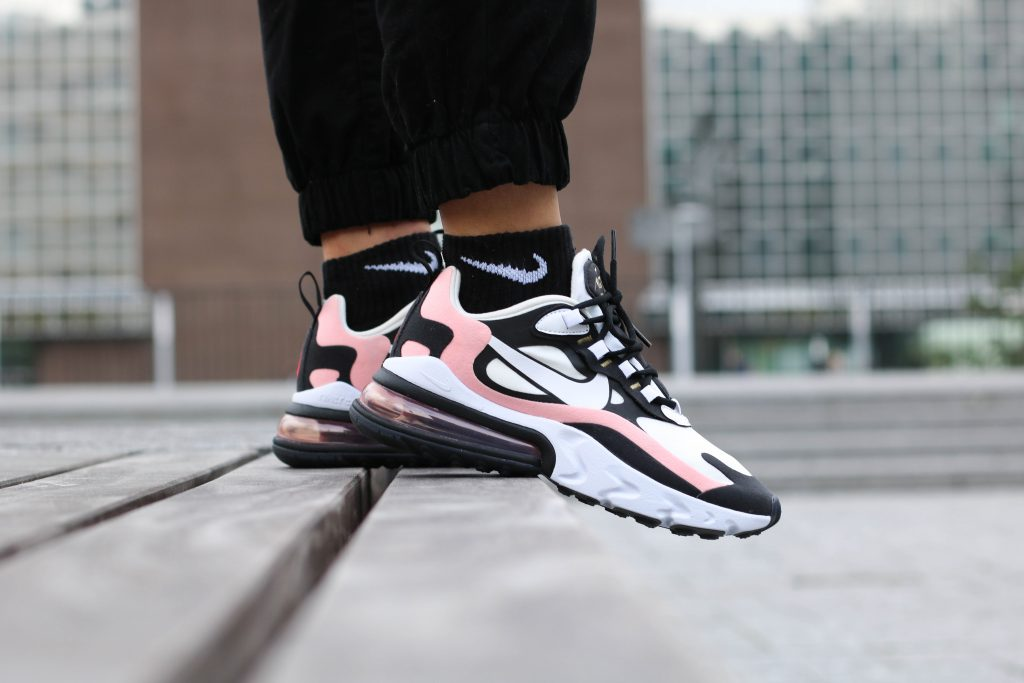 "2019 Womens Nike Air Max 270 React ""Bleached Coral"" in 2020"
