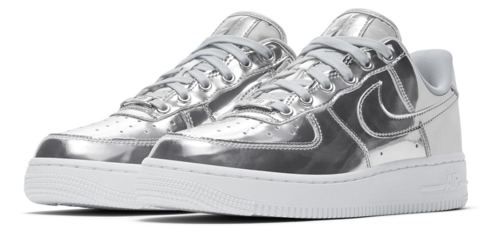 Nike Air Force 1 SP 'Liquid Metal' Silver
