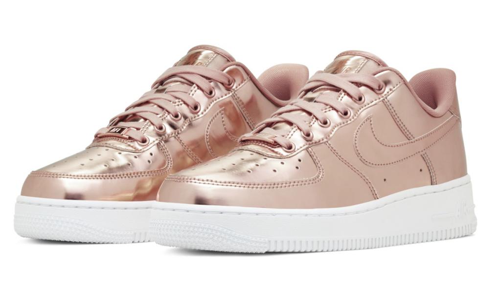 Nike Air Force 1 SP 'Liquid Metal' Rosé Gold