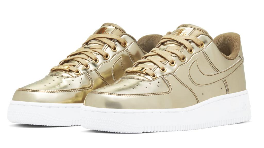 Nike Air Force 1 SP 'Liquid Metal' Gold