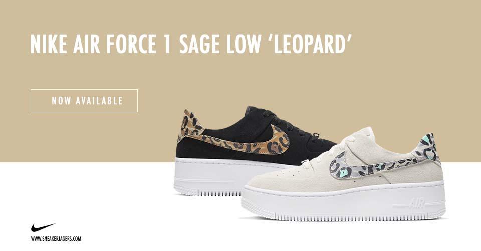 De Nike Air Force 1 Sage Low heeft twee nieuwe 'leopard