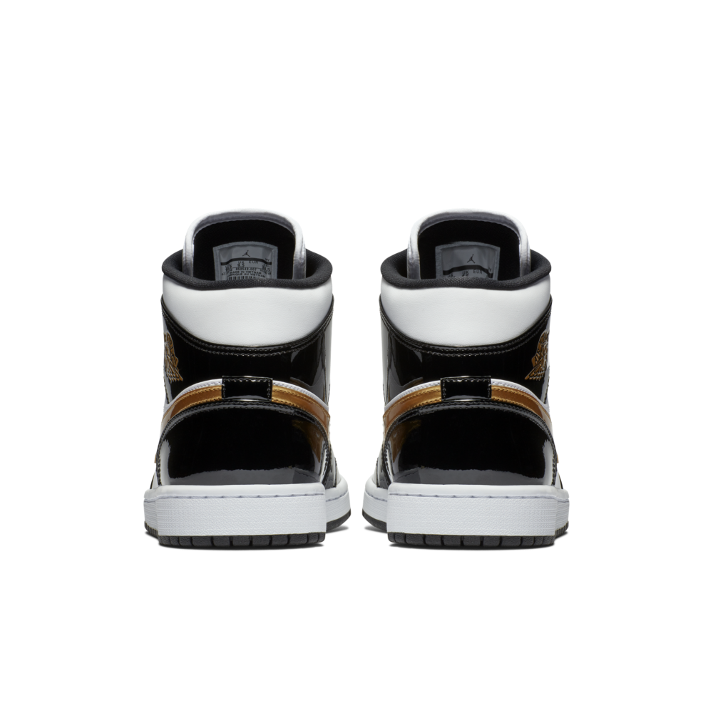 Air Jordan 1 Mid 'Black/Gold' | 852542-007