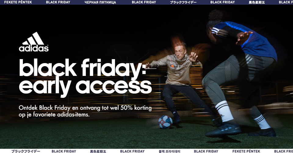 Black Friday: Early Acces Sale bij adidas! | Sneakerjagers