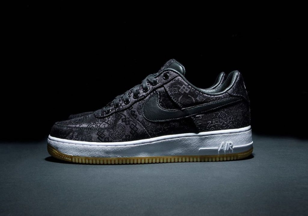 "Fragment x CLOT x Nike Air Force 1 ""Black Silk"" 