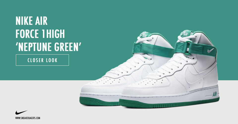 De Nike Air Force 1 High ontvangt een 'Neptune Green