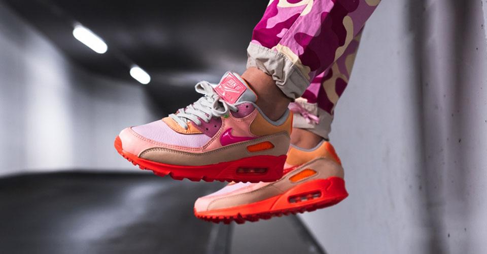 De Nike Air Max 90 Premium 'Pink Shade' heeft eindelijk een
