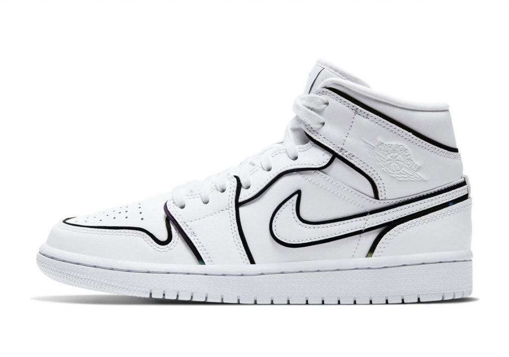 Air Jordan 1 Mid WMNS Reflective