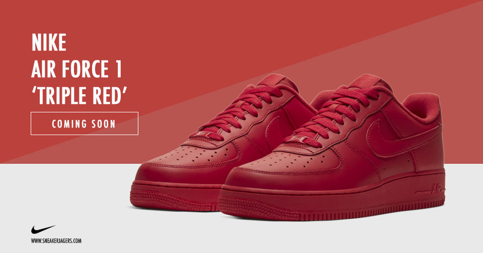 De Nike Air Force 1 gaat een 'Triple Red' colorway ontvangen