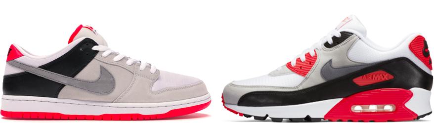 Dunk SB & Air Max 90 Infrared